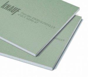 <p>Гипсокартон (ГКЛВ) 12,5 мм</p> <p>Цена:</p> <p>Гипсокартон (ГКЛВ) 9,5 мм</p> <p>Цена:&nbsp;</p>
